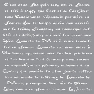Americana Decor Stencil-Old French Script