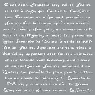 Americana Decor Stencil-Old French Script https://ak1.ostkcdn.com/images/products/9195575/P16368021.jpg?impolicy=medium
