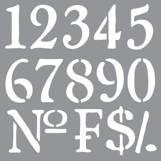 Americana Decor Stencil-Olde World Numbers