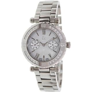 Guess Women's X42107L1S Silvertone Stainless Steel Swiss Quartz Watch