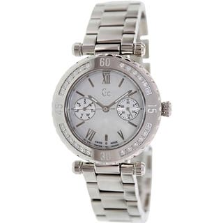 Guess Women's X42107L1S Silvertone Stainless Steel Swiss Quartz Watch|https://ak1.ostkcdn.com/images/products/9195635/P16368267.jpg?impolicy=medium