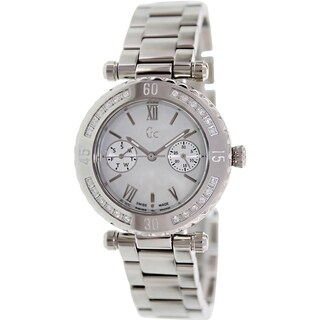 Guess Women's X42107L1S Silvertone Stainless Steel Swiss Quartz Watch
