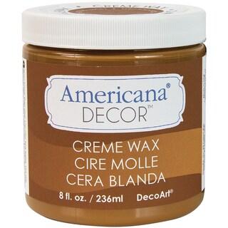 Americana Decor Creme Wax 8oz-Golden Brown