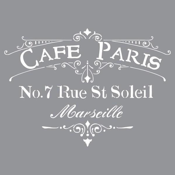 Americana Decor Cafe Paris Stencil