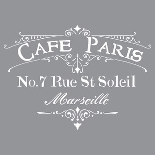 Americana Decor Stencil-Cafe Paris