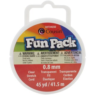 Fun Pack Stretch Cord Spool .8mm 45yd/Pkg-Clear