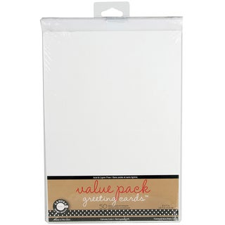 Value Pack Cards & Envelopes 5inX7in 50/Pkg-White