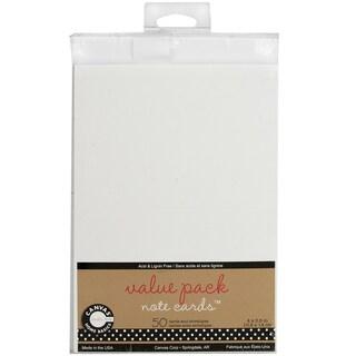Value Pack Cards & Envelopes 4inX5.5in 50/Pkg-White