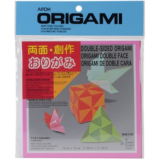 Origami Paper 36/Pkg-Double Sided Solid 5.875inX5.875in