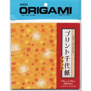Origami Paper 40/Pkg-Leaves Chiyogami