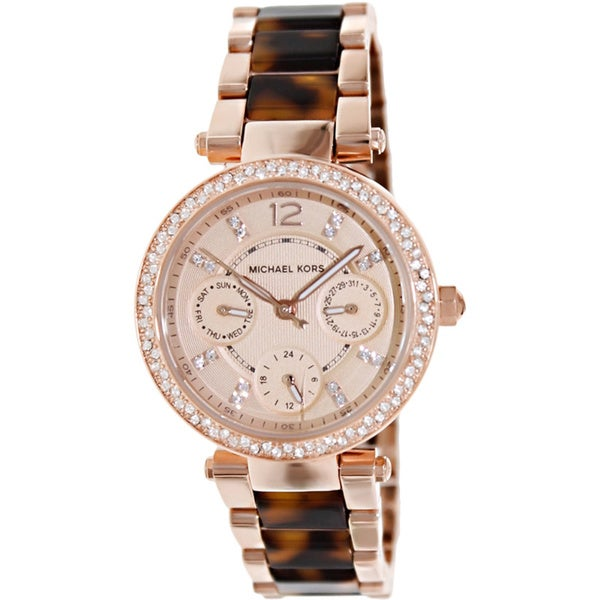 315f1fc07bcf Shop Michael Kors Women s MK5841  Parker  Mini Two-Tone Watch - Free ...