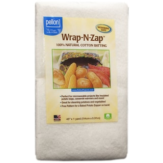 Wrap-N-Zap 100-percent Natural Cotton Batting 45inX36in-Natural
