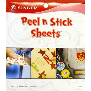 Peel N Stick Sheets 5X5in Plus Stencil 6/Pkg
