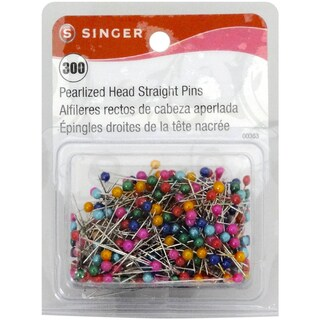 Pearlized Head Straight Pins-Size 24 300/Pkg