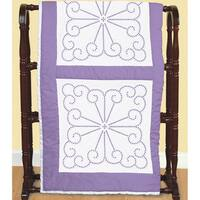 Stamped White Quilt Blocks 18inX18in 6/Pkg-XX Vintage Design