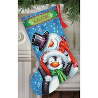 Polar Pals Stocking Needlepoint Kit-16in Long Stitched In Thread