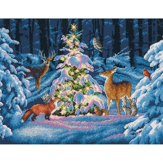 Woodland Glow Counted Cross Stitch Kit-14inX11in 14 Count