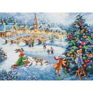 Gold Collection Winter Celebration Counted Cross Stitch Kit-16inX12in 16 Count