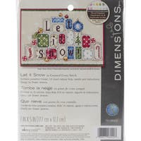 Let It Snow Mini Counted Cross Stitch Kit-7inX5in 14 Count