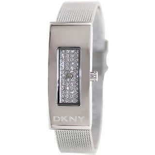DKNY Women's Astoria NY2109 Silvertone Stainless Steel Analog Quartz Watch with Silvertone Dial