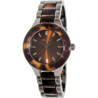 Dkny Women's NY8650 Brown Ceramic Analog Quartz Watch with Brown Dial