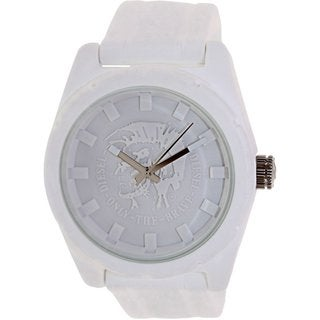 Diesel Men's Nsbb DZ1590 White Silicone Quartz Watch with White Dial