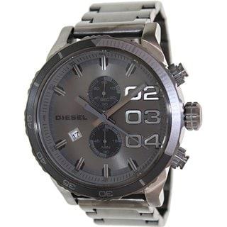 Diesel Men's Double Down DZ4314 Grey Stainless Steel Quartz Watch with Grey Dial
