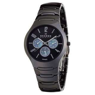 Skagen Women's 817SXBC1 Black Ceramic Quartz Watch with Black Dial