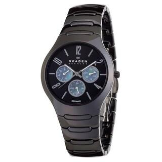 Skagen Women's 817SXBC1 Black Ceramic Quartz Watch with Black Dial