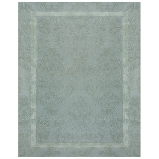 Grand Bazaar Tufted Wool and Viscose Catalina Rug in Ice (5' x 8')