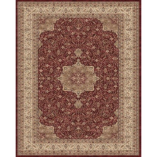 Grand Bazaar Power Loomed Polypropylene Delia Rug in Red/Cream - 5' x 8'