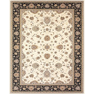Grand Bazaar Power Loomed Polypropylene Delia Rug in Cream/Navy 5' x 8' - 5' x 8'