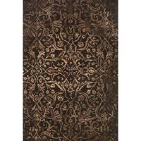 Grand Bazaar Tufted Wool Pile Beloha Rug in Brown/ Light Brown - 5' x 8'