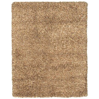 Grand Bazaar Tufted 100-percent Wool Pile Melrose Area Rug in Caramel (5' x 8')
