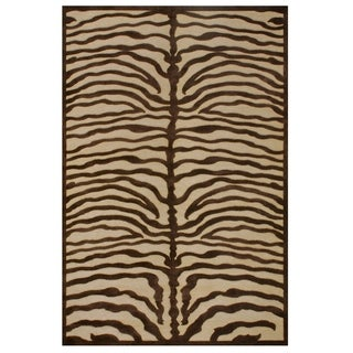 "Grand Bazaar Power Loomed Viscose Soho Rug in Ivory/Chocolate 5'-3"" X 7'-6"" - 5'-3"" x 7'-6"""
