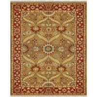 """Grand Bazaar Hand-knotted Wool Pile Pietra Rug in Gold/ Red (8'6 x 11'6) - 8'6"""" x 11'6"""""""