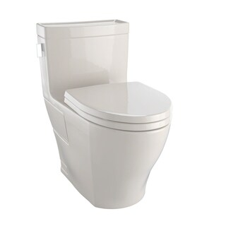 Toto Legato One-Piece Elongated 1.28 GPF Universal Height Skirted Toilet with CeFiONtect MS624214CEFG#03 Bone