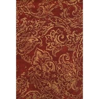 Grand Bazaar Tufted Wool Pile Glendora Rug in Red/ Multi (8' x 11')