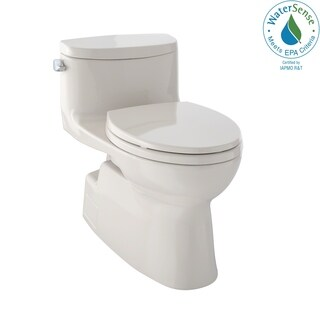 Toto Carolina II One-Piece Elongated 1.28 GPF Universal Height Skirted Toilet with CeFiONtect MS644114CEFG#03 Bone