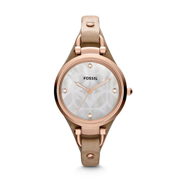Fossil Women's Georgia ES3151 Beige Leather Quartz Watch