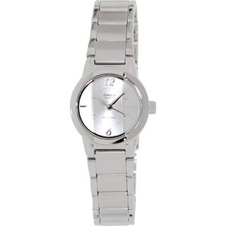 Casio Women's Core Silvertone Stainless Steel Quartz Watch with Silvertone Dial
