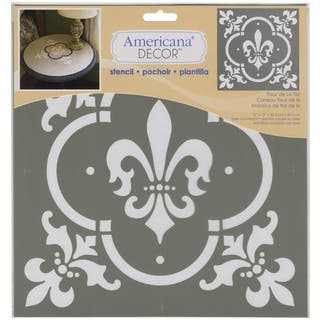 Americana Decor Stencil-Fleur De Lis Tile|https://ak1.ostkcdn.com/images/products/9196475/P16368993.jpg?impolicy=medium