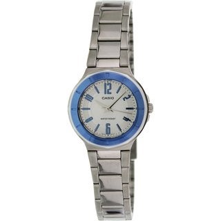 Casio Women's Core LTP1367D-7A Silvertone Stainless Steel Quartz Watch with Silvertone Dial