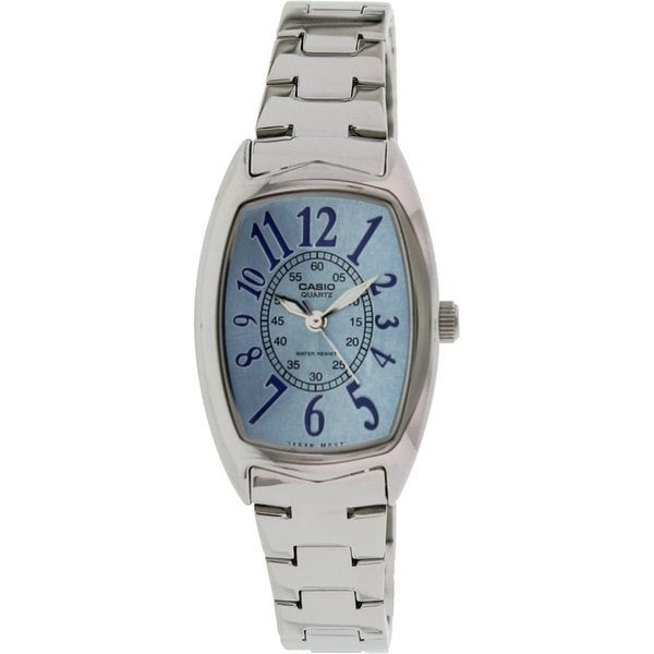Casio Women's LTP-1208D-2B 'Classic' Stainless Steel Watch - BLue