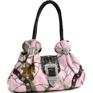 Realtree Camouflage Rhinestone Buckle Shoulder Bag