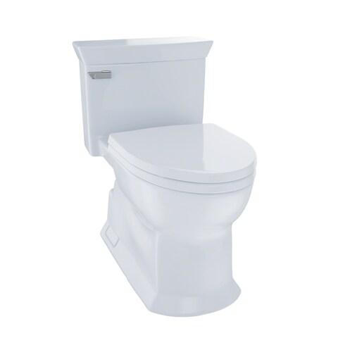 Toto Eco Soirée® One Piece Toilet, 1.28 GPF, Elongated Bowl MS964214CEFG#01 Cotton White