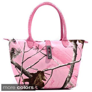 Dasein Twist Lock Tote Bag in Realtree Camouflage