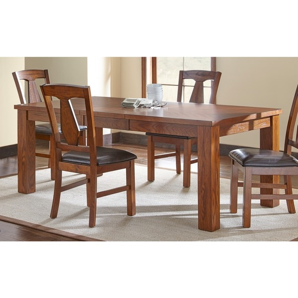 Lansing Burnished Medium Oak 78-inch Dining Table  by Greyson Living