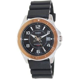 Casio Men's MTD1074-1AV Black Plastic Quartz Watch with Black Dial