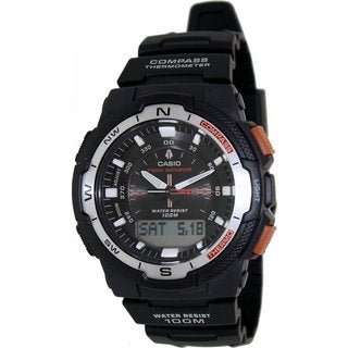 Casio Men's SGW500H-1BV Black Plastic Quartz Watch with Black Dial